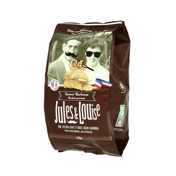 Jules & Louise Chips françaises saveur barbecue 20x35g