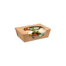 Salade Box boîtes à salade kraft avec fenêtre 29oz/825ml x250