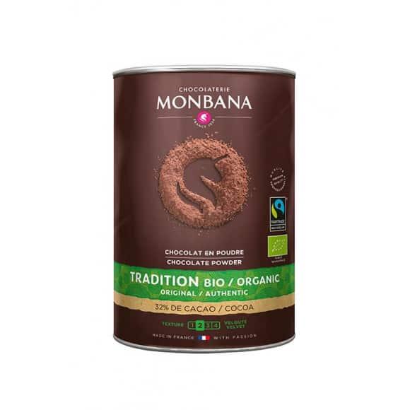 Chocolat en poudre Fairtrade boîte 1kg BIO