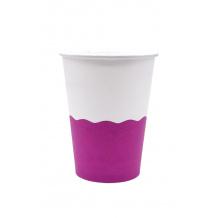 Sachet x 50 gobelets carton Purple White 12oz/355ml