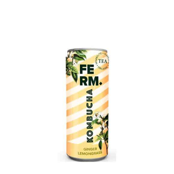 FERM Thé Kombucha Citronnelle Gingembre canette 24x250ml BIO