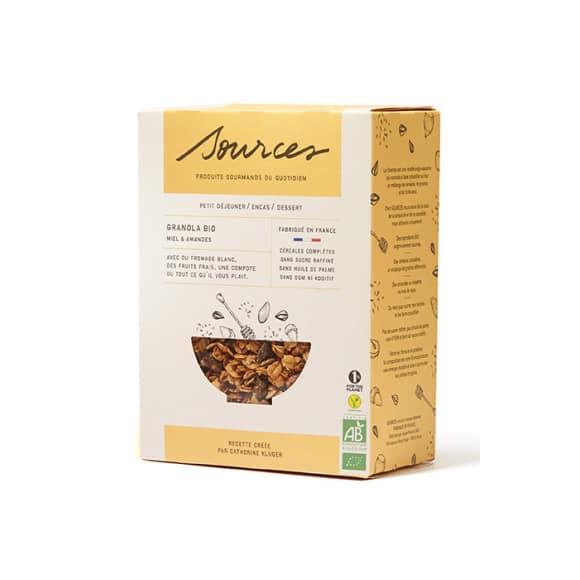 SOURCES Granola miel et amandes boîte 350g BIO