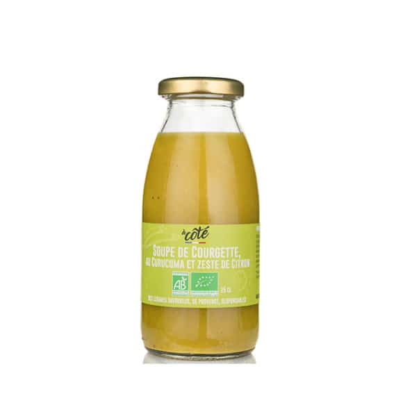 À CÔTÉ Soupe Courgette Curcuma Citron bouteille verre 12x250ml BIO