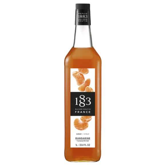 Sirop Mandarine bouteille verre 1L