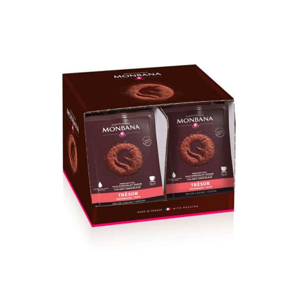 Chocolat en poudre Trésor de Chocolat dosette 100 x 25g