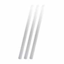 Lot de 18 sachets x 125 Pailles PLA blanc D.11mm
