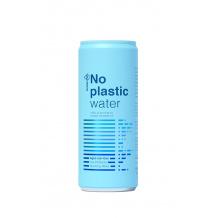 No Plastic Water eau minérale pétillante canette 24x330ml