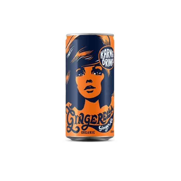 Karma Drinks Soda Gingembre canette 24 x 250ml BIO