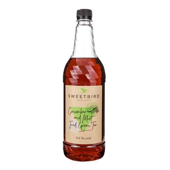 Lot de 6 Sirops Iced Tea Concombre Menthe bouteille PET 1L