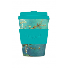 ECOFFEE CUP - Gobelet en fibre de bambou Van Gogh Almond Blossom 12oz/355ml
