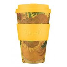 ECOFFEE CUP - Gobelet Bambou Van Gogh Sunflowers 1889 14oz/400ml