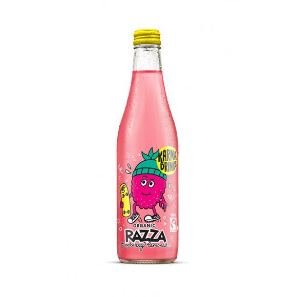 KARMA DRINKS - RAZZA LEMONADE FRAMBOISE BOUTEILLE VERRE 300ML x24 BIO