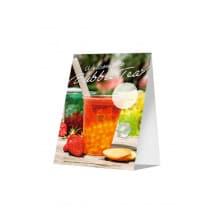 Lot x 10 nouveaux présentoirs Bubble Tea A6 10,5x14,8cm