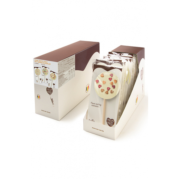 MOME - LOLLY SUCETTE CHOCOLAT BLANC MIX TOPPING 30G x24