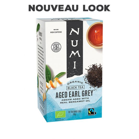 NUMI - THE NOIR AGED EARL GREY x18 SACHETS BIO