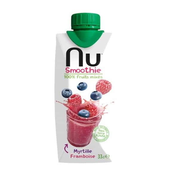 Smoothie Myrtille Framboise tetra pak 12 x 330ml