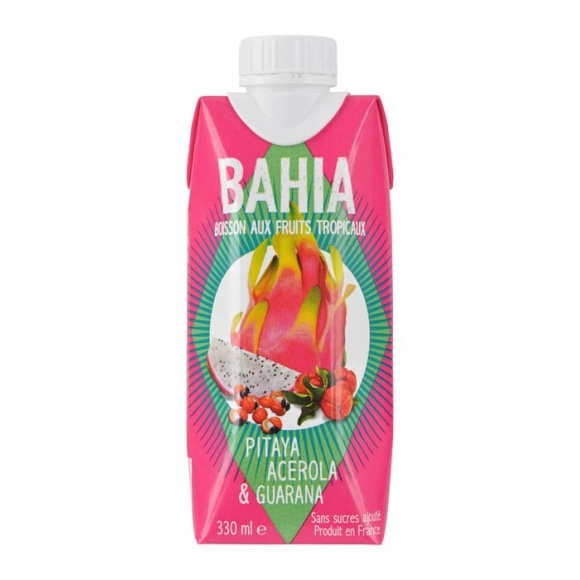 Boisson naturelle Pitaya Acerola Guarana tetra pak 12 x 330ml