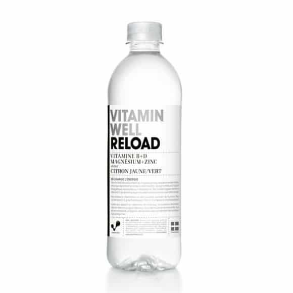 Reload boisson fonctionnelle Citron Citron vert bouteille PET 12 x 500ml
