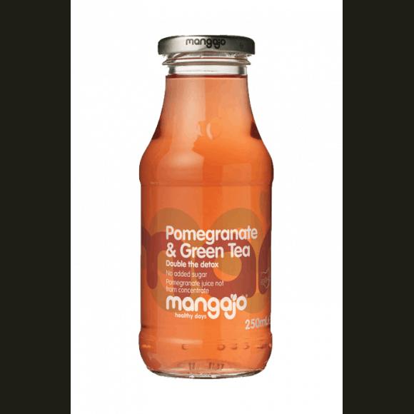 Thé glacé Thé vert Grenade bouteille verre 12 x 250ml