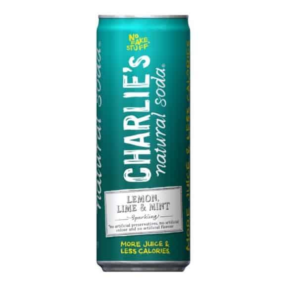 Soda pétillant naturel Citron Citron vert Menthe canette 12 x 330ml