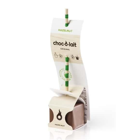 Lot de 4 présentoirs Chocolat Noisette bâtonnet 24 x 33g
