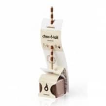 Lot de 4 présentoirs Chocolat Caramel bâtonnet 24 x 33g