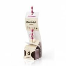 Lot de 4 présentoirs Chocolat Menthe poivrée bâtonnet 24 x 33g
