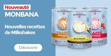 Nouveaux milkshakes Monbana
