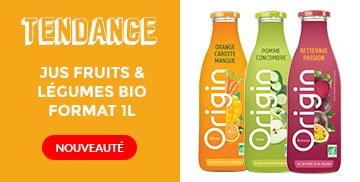 Nouveaux jus fruits et légumes Origin
